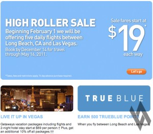 jetBlue Offers $19 Vegas Flights