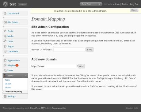 WordPressMU Domain Mapping