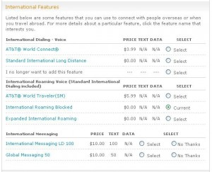 AT&T Mobility Roaming Plan Options