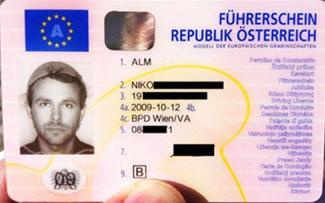 Niko Alm Driver's License